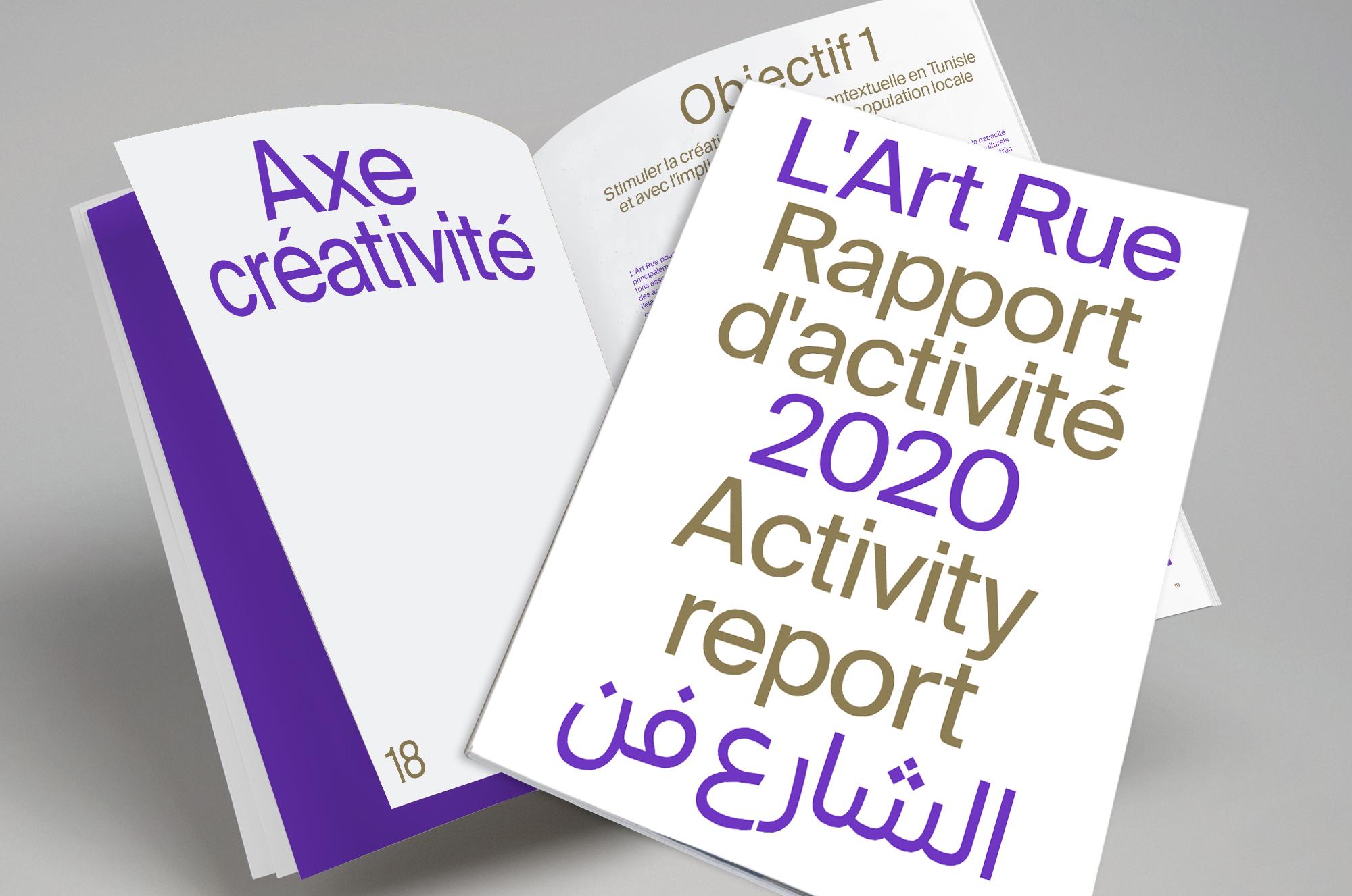Rapport d'activités de L'Art Rue 2020